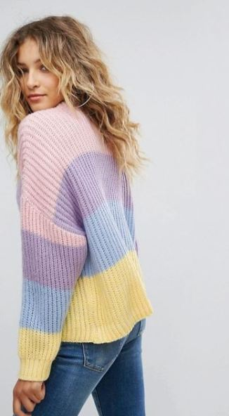 Missguided Stripe Brushed Knitted Jumper