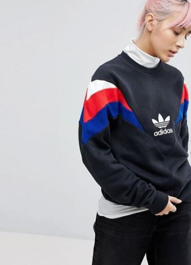 adidas Originals Neva Crew Sweat In Black